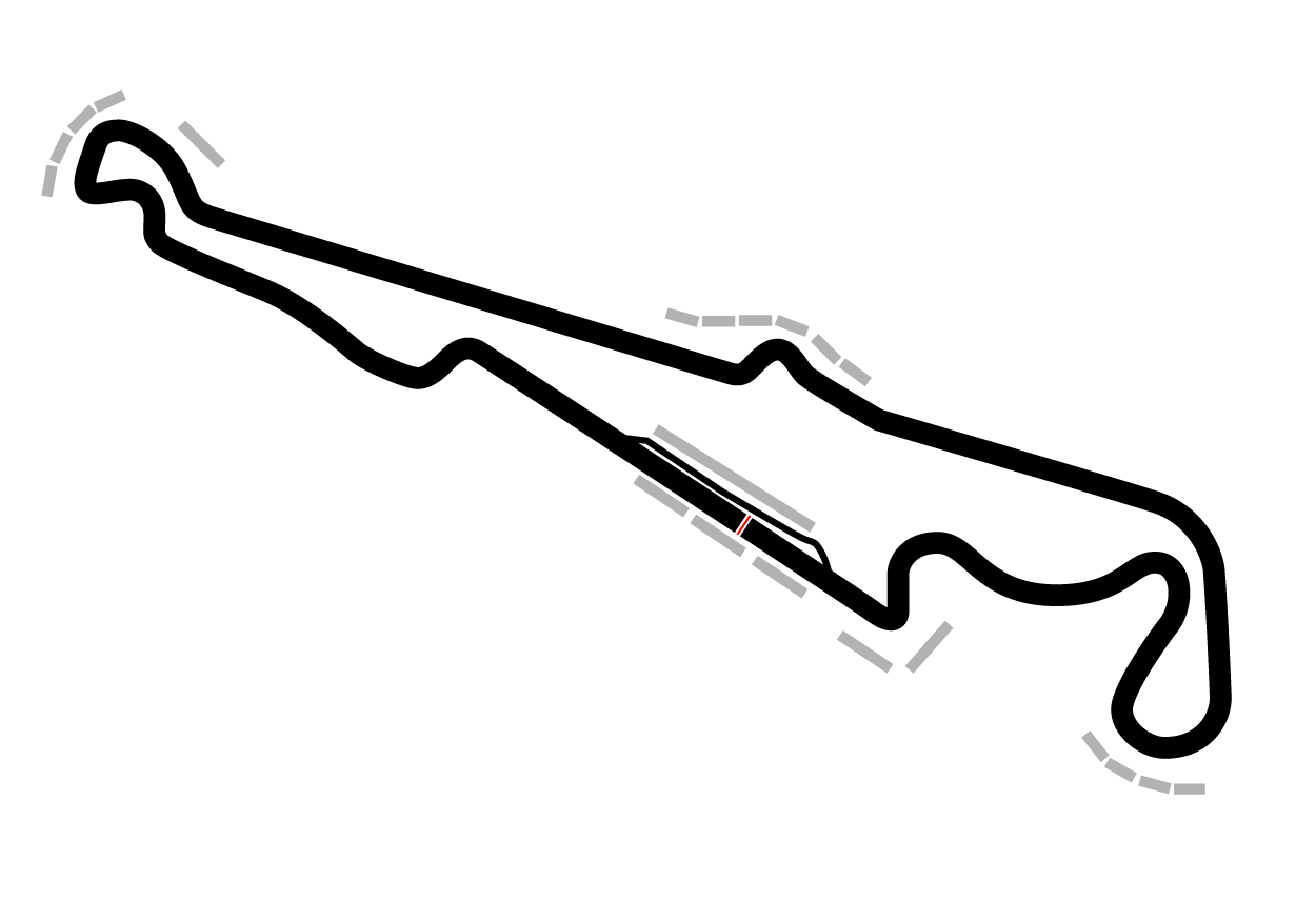 Grand Prix track map in black
