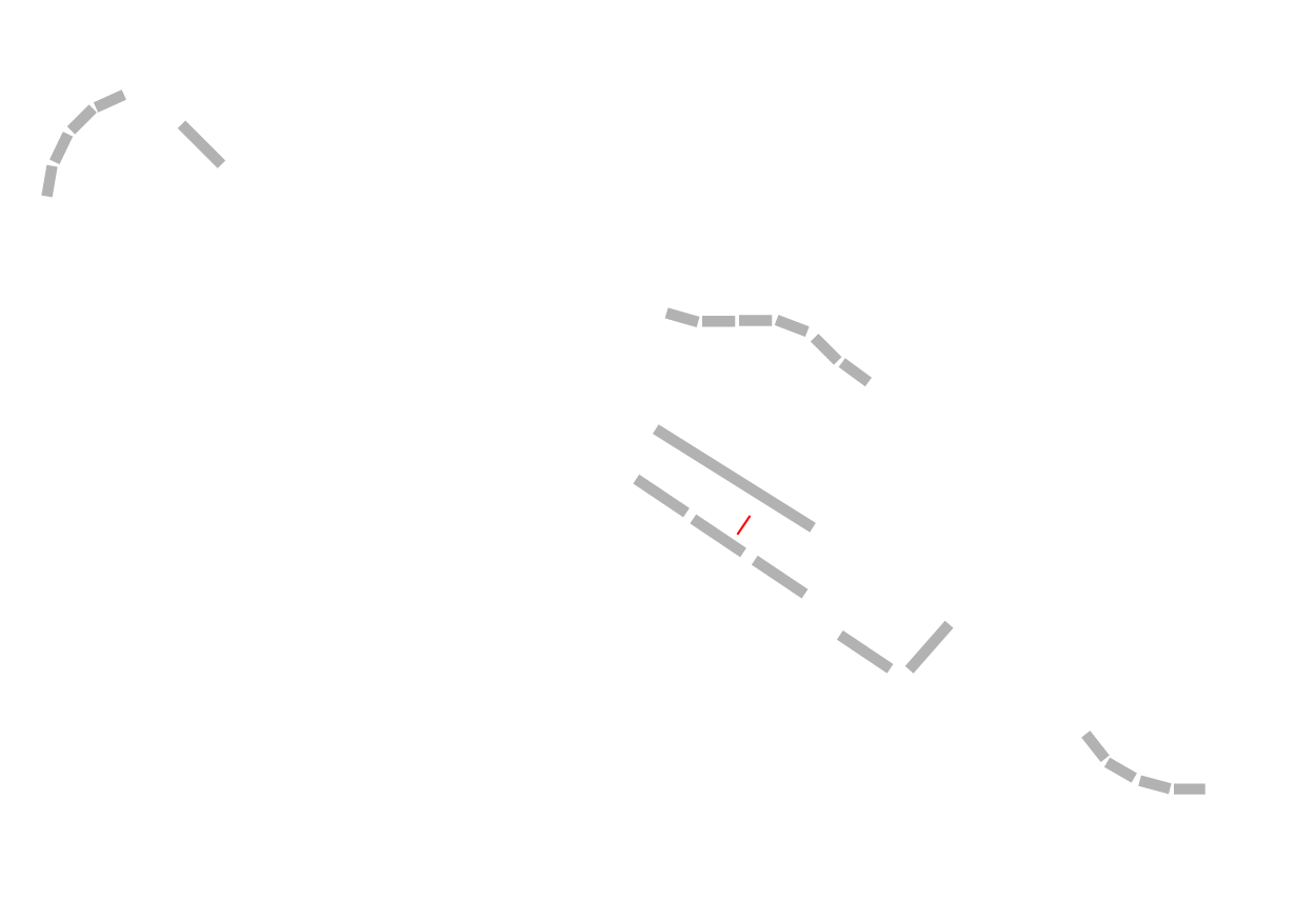 Grand Prix track map in white